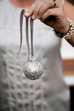 Diy holiday projects using dollar store ornaments 03 - GODIYGO.COM Silver Christmas, Christmas Colors, Christmas Holidays, Christmas Crafts, Christmas Decorations, Christmas Ornaments, Christmas Ideas, Happy Holidays, Elegant Christmas