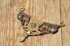 Handgemachte lange Makramee Halskette von MichalGeist auf Etsy