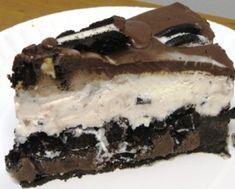 Triple Chocolate Oreo Ice Cream Cake with Ganache Topping