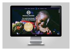 Website design, build and brand identity for Nicola Adams.