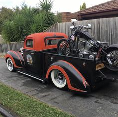 Custom VANS natural BABES & other bad ass transportation. Hot Rod Pickup, Old Pickup Trucks, Hot Rod Trucks, Cool Trucks, Big Trucks, Chevy Trucks, Indian Motorcycles, Triumph Motorcycles, Mv Agusta