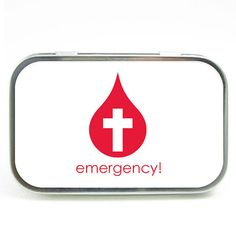 Emergency Large Tin  TINLG06 by maucreations on Etsy, $6.50