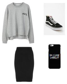 """Something"" by abimarie09 ❤ liked on Polyvore featuring MANGO, Manon Baptiste and Vans"