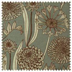 Wild Garden Fabric (Slate Ecru) | Abigail Borg