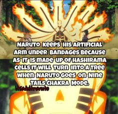 That's why Naruto keeps his right arm bandaged ❤️❤️❤️