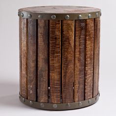 Wood Plank Drum Table | World Market