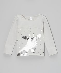 This OmamiMini Gray & Silver Polka Dot Giraffe Tee - Infant, Toddler & Girls by OmamiMini is perfect! #zulilyfinds