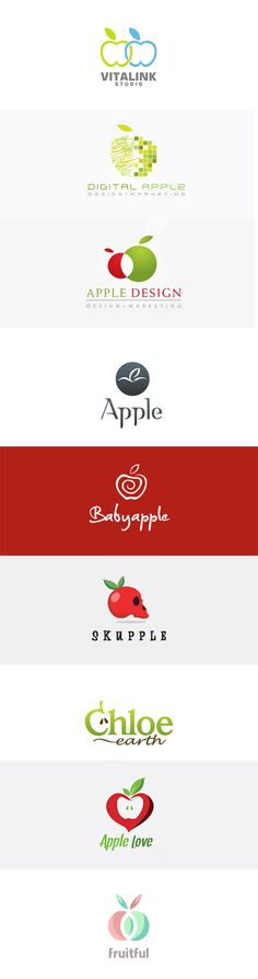 Fruit Logo Design series this time featuring apples. #inspiration #apple #logo