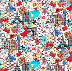 Paris Pin-ups White