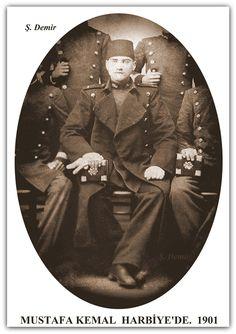 MUSTAFA KEMAL ATATÜRK HARBİYE'DE. 1901