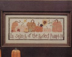 In Search of the Perfect Pumpkin Cross Stitch Pattern, Autumn Decor for Halloween or Thanksgiving