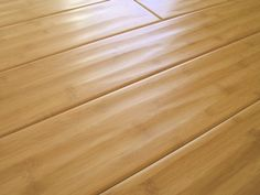 Bamboo flooring in a hand scraped look.