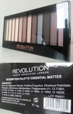 Prime Impressioni: Makeup Revolution Redemption Palette Essential Mattes http://she-wore-shiseido-red.blogspot.it/2014/06/prime-impressioni-makeup-revolution_7.html