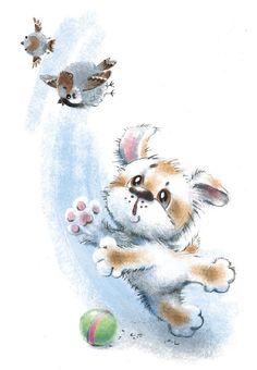 Cute Animals Images, Cute Funny Animals, Cute Animal Illustration, Illustration Art, Cute Drawings, Drawing Sketches, Cat Art, Pet Portraits, Illustrators