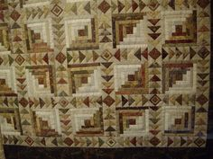 Quilt of Autumn - love the combination of Log Cabins and Flying Geese.
