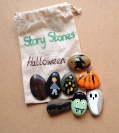 Story Stones help promote literacy, story telling skills bu creating stories using the pictures as stimuli.