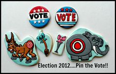 Pin the Tail - 2012 Election! by Vicki's Sweets, via Flickr