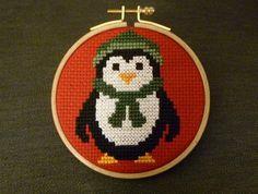 Sevimli penguen (etamin işleme pano)