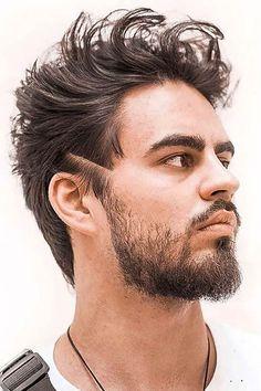 Cortes de cabelo masculino para ousar!   Moda Para Homens Latest Haircut For Men, Trendy Mens Haircuts, Latest Haircuts, Cool Haircuts, Male Haircuts, Popular Haircuts, Mens Medium Length Hairstyles, Mens Hairstyles With Beard, Cool Hairstyles For Men