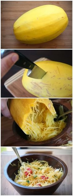 How To Skinny Spaghetti- Dude, squashes are the best thing ever! Not only are they healthy but they taste so good!