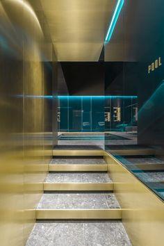 Frame Awards 2018 - Ceresio Milan – by Storage Associati Gym Interior, Interior Stairs, Interior And Exterior, Home Spa Room, Spa Rooms, Studio Arthur Casas, Hotel Corridor, Halls, Hotel Lounge