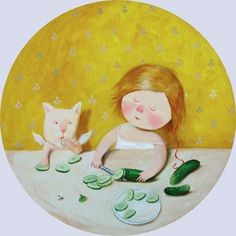 cat who loves cucumbers