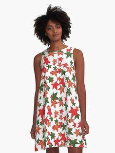 'Classic Vintage Black and White Houndstooth Pattern' A-Line Dress by podartist Vintage T-shirts, Vintage Black, Dress Vintage, Vintage Style, Vintage Candy, White A Line Dress, Models, Scandinavian Style, I Dress
