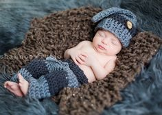 baby boy crochet pant set elf hat and pant set by TeenySweetShop, $46.00
