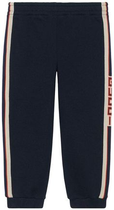 Gucci Kids Childrens jogging pant with stripe - Gucci Kids - Ideas of Gucci Kids - Gucci Kids Children's jogging pant with stripe Gucci Kids, Kids Clothes Boys, Jogging, Kids Outfits, Women Wear, Legs, Pants, How To Wear, Fashion Design