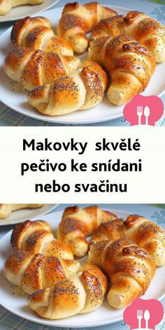 Makovky  skvelé pecivo ke snídani nebo svacinu My Favorite Food, Favorite Recipes, Holiday Party Appetizers, Vegetarian Recipes, Cooking Recipes, Czech Recipes, Keto Bread, Diet And Nutrition, Healthy Baking