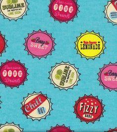 Snuggle Flannel Fabric-Bottle Caps