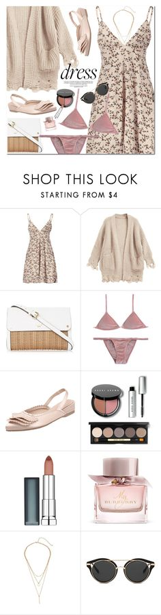 """Throw-and-Go Dresses"" by oshint ❤ liked on Polyvore featuring Bobbi Brown Cosmetics, Maybelline and Burberry"