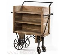 Vintage Industrial Furniture :: DJ-2280 Industrial wine wheel wagon - ARTeFAC