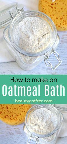 Diy bath recipe. Oatmeal Bath -how to make an oatmeal bath to combat rashes and skin conditions like eczema #homeremedies #health #bathsoak #diybath
