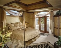 Bedroom: Opulent Master Suite, painted tray ceiling
