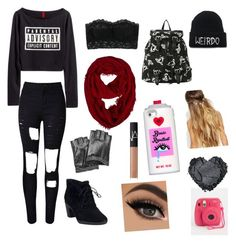 """""""IDGAF"""" by greaserchicksarebetter ❤ liked on Polyvore featuring Hanky Panky, Clarks, Karl Lagerfeld, Johnny Loves Rosie, Valfré, NARS Cosmetics, women's clothing, women's fashion, women and female"""
