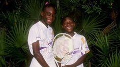 Venus and Serena Williams, pictured in 1992