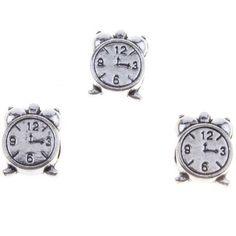 100pcs Hot Sale Antique Silvery Clock Alloy European Beads Fit Jewellery J