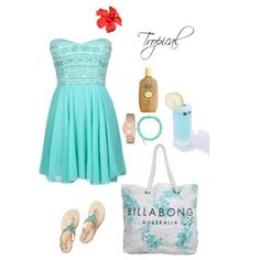Fashion look from february 2015 featuring billabong tote bags