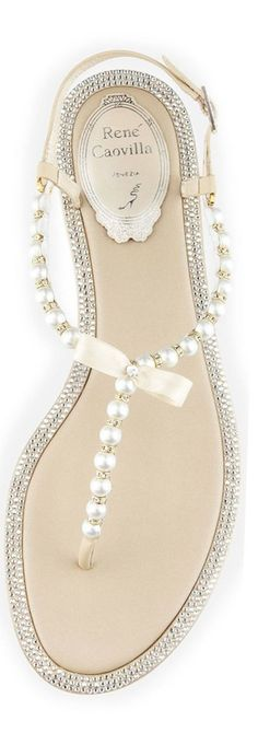 Pearl Adorned Bridal Sandals