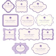 die cut business cards {Icing on the Paper shop on Etsy}