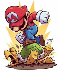 Drawing Superhero Chibi Mario Print — Derek Laufman - **Price is in US Dollars** Signed x Print on high quality gloss stock. Cartoon Kunst, Cartoon Art, Cartoon Faces, Mario And Luigi, Super Mario Bros, Game Character, Game Art, Comic Art, Street Art