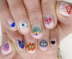 Beautiful and Unique Nails Art, Simple to Achieve - FashionMyHot Nail Design Stiletto, Nail Design Glitter, Funky Nails, Cute Nails, Pretty Nails, Perfect Nails, Gorgeous Nails, Hippie Nails, Mens Nails