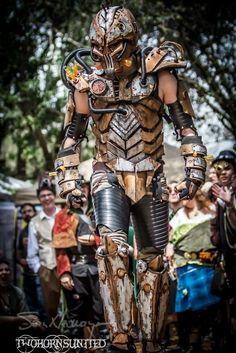 The Steam freak 2.0 light up full Steampunk armor by TwoHornsUnited.deviantart.com on @deviantART