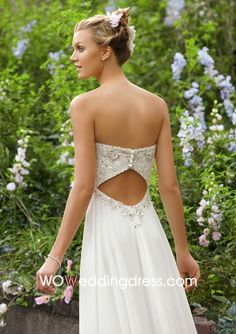 Beautiful Beaded Chiffon Sweetheart Wedding Dress - Shop Online for Wedding Dresses at Low Prices