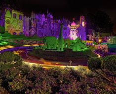 Its a Small World . Night Lighting .