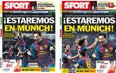 La portada del diario Sport fue cambiada, luego de que numerosos usuarios de Twitter advirtieran que las posturas de Xavi y Puyol no eran apropiadas