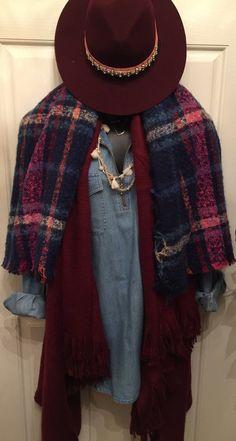 Blanket Scarf with Fringe $24 shopthebronzemonkey.com