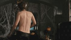 David Tennant and his drool-worthy back dimples.  (This is a gif.  Click for awesome hip-swaggering action.)