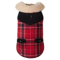 Paige Shearling Pet Jacket in Red